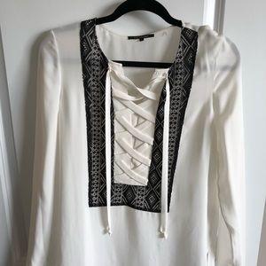 Kobi Halperin 100% silk blouse with lace detail